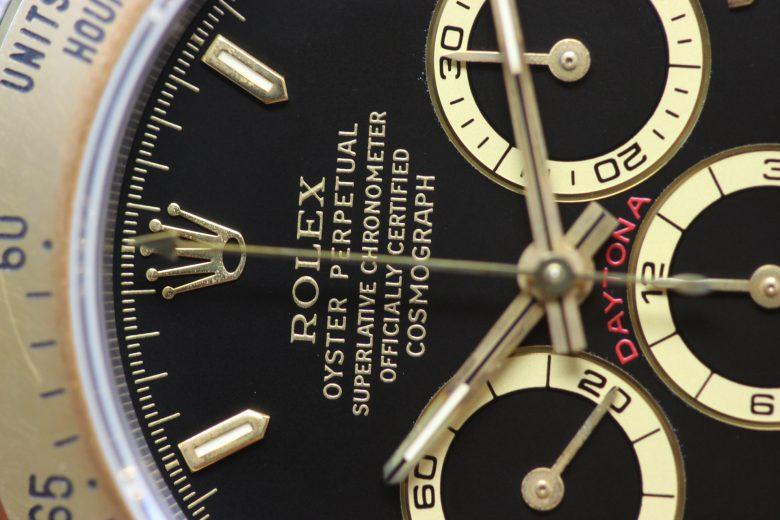 デイトナ16523の12時側の文字盤